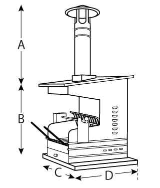 Oven Attachment Dimensions
